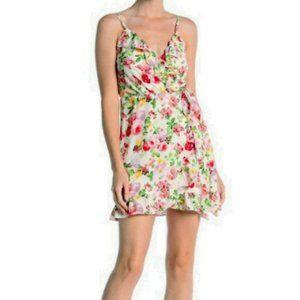 love...ady Ruffle Faux Wrap Mini Dress M